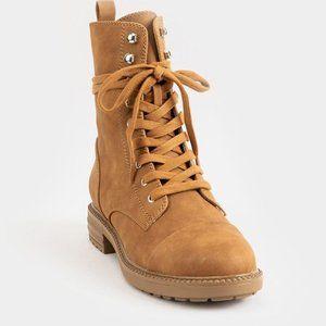 Report Nina Lace up Tan Combat Boots
